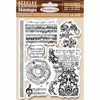 STAMPERIA - HD NATURAL RUBBER STAMP cm 14x18 MUSIC BEGINNING