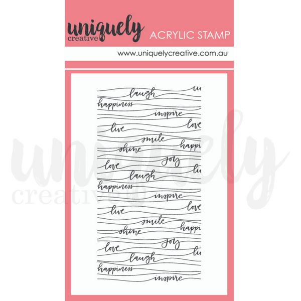 UNIQUELY CREATIVE - WAVY WORDS MARK MAKING STAMP