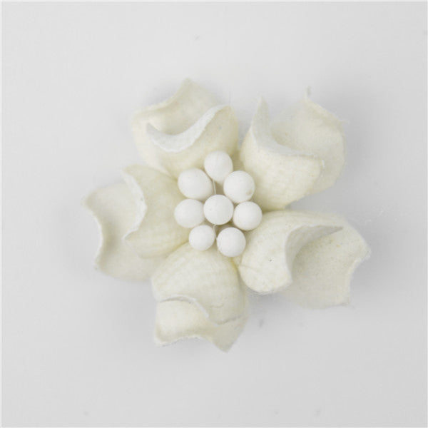 CRAFTY CONCEPTS - DECO FLOWER WHITE - 2 IN A PACKET
