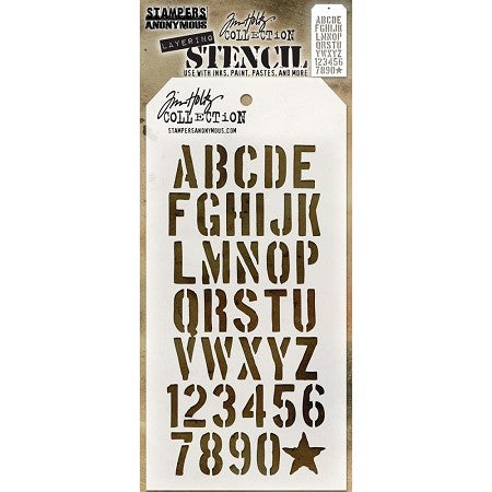 STAMPERS ANONYMOUS -TIM HOLTZ - LAYERING CREATE STENCIL