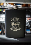 8oz Black KSHE Flask
