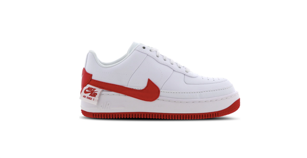 Nike Wmns Air Force 1 Jester XX 'White - Red' | Foot Placard
