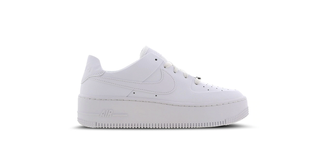 Nike Wmns Air Force 1 Sage Low 'Triple White' | Foot Placard