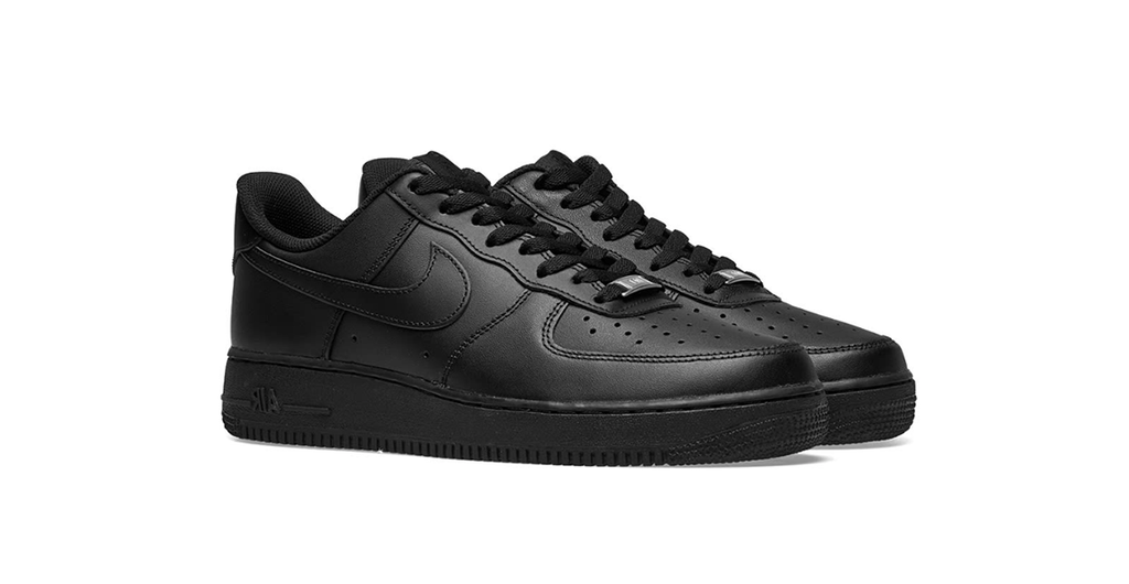 Nike Air Force 1 '07 Low 'Black' | Foot Placard