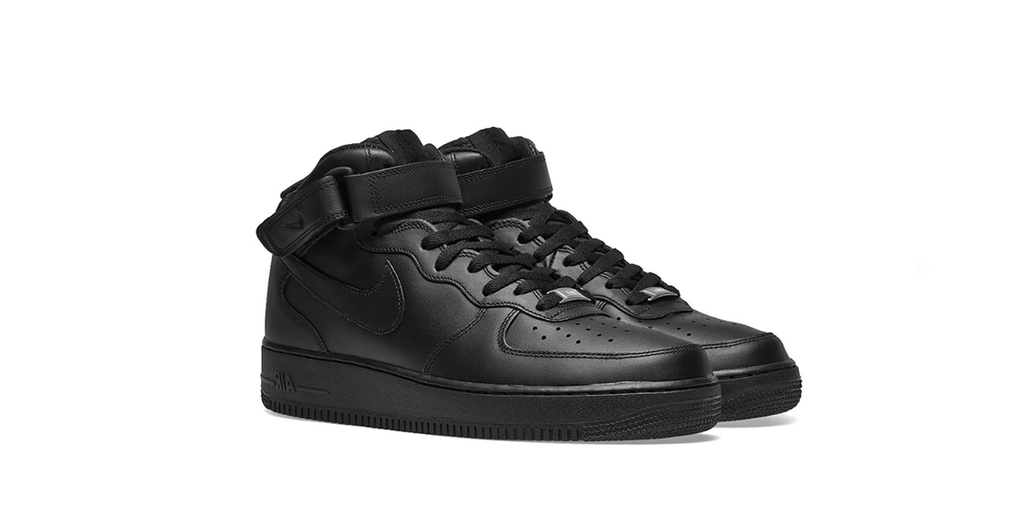 Nike Wmns Air Force 1 '07 Mid 'Black' | Foot Placard