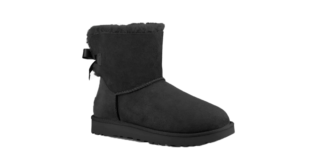 UGG Mini Bailey Bow ll Boot 'Black' | Foot Placard