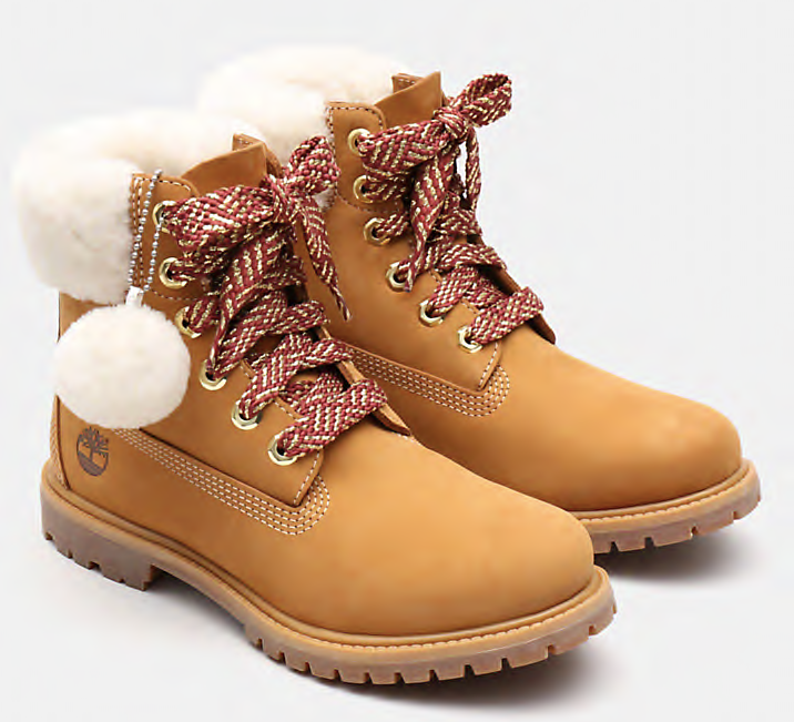 Timberland 6-Inch Shearling Boot Women | Wheat Yellow