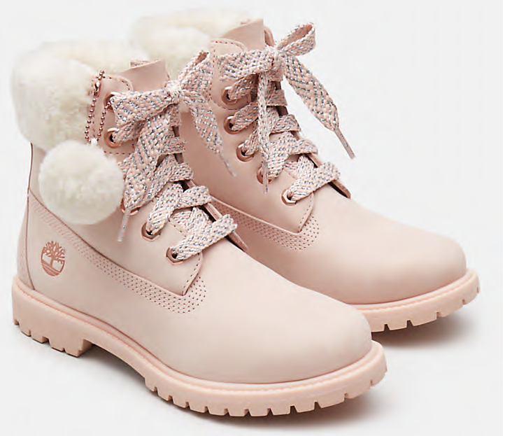 Timberland 6 Inch Shearling Boot Women 'Pink' | Foot Placard