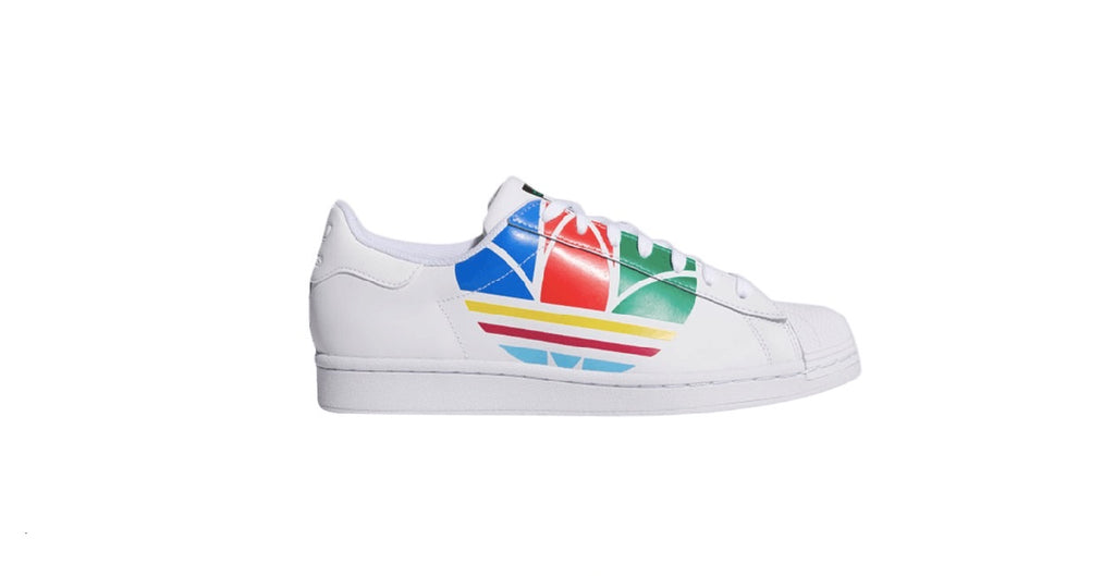 adidas Superstar Pure | Cloud White - Red - Blue
