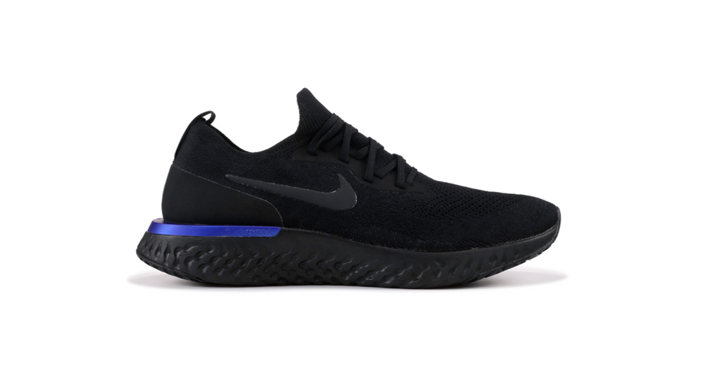 Nike Epic React Flyknit 'Black Racer Blue' | Foot Placard