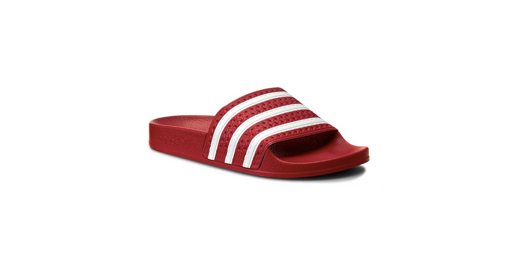 adidas Adilette Slides 'Scarlet - White' | Foot Placard