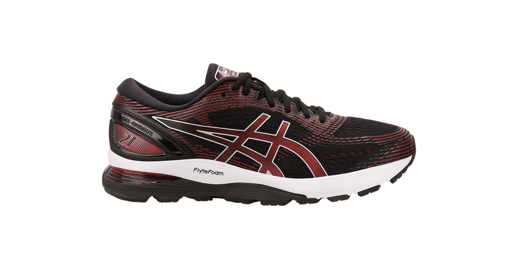 Asics Gel-Nimbus 21 'Classic Red' | Foot Placard