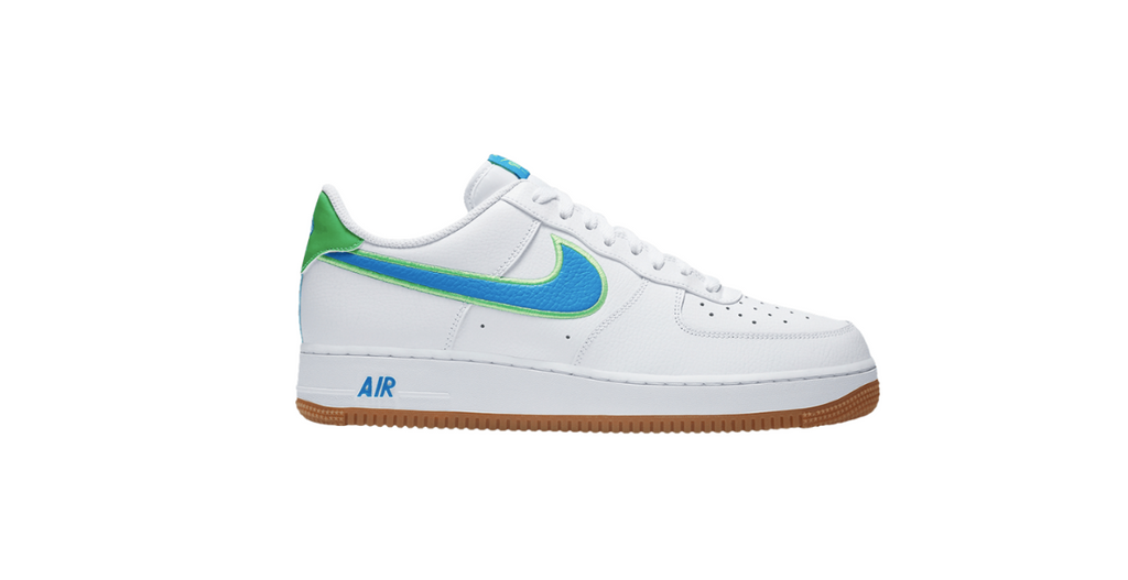 Nike Air Force 1 Low 'White - Light Photo Blue' | Foot Placard