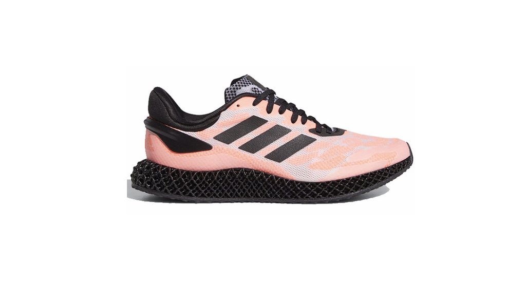 adidas 4D Run 1.0 'Core Black - Signal Coral' | Foot Placard