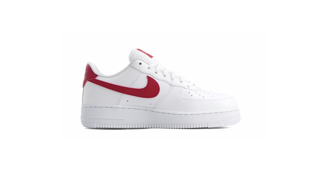 Nike Wmns Air Force 1 '07 Low 'White - Noble Red' | Foot Placard