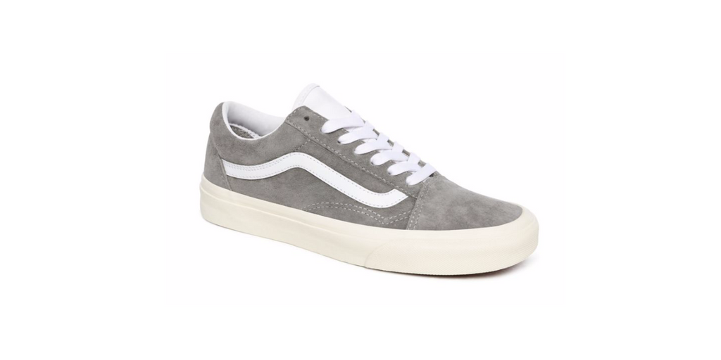 Vans Pig Suede Old Skool Low 'Drizzle - Snow White' | Foot Placard