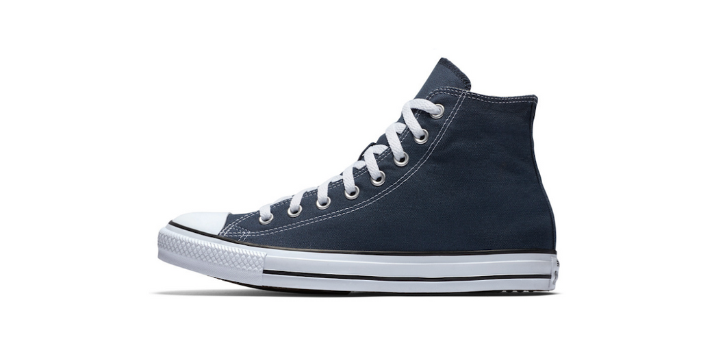 Converse Chuck Taylor All Star High Navy | Foot Placard