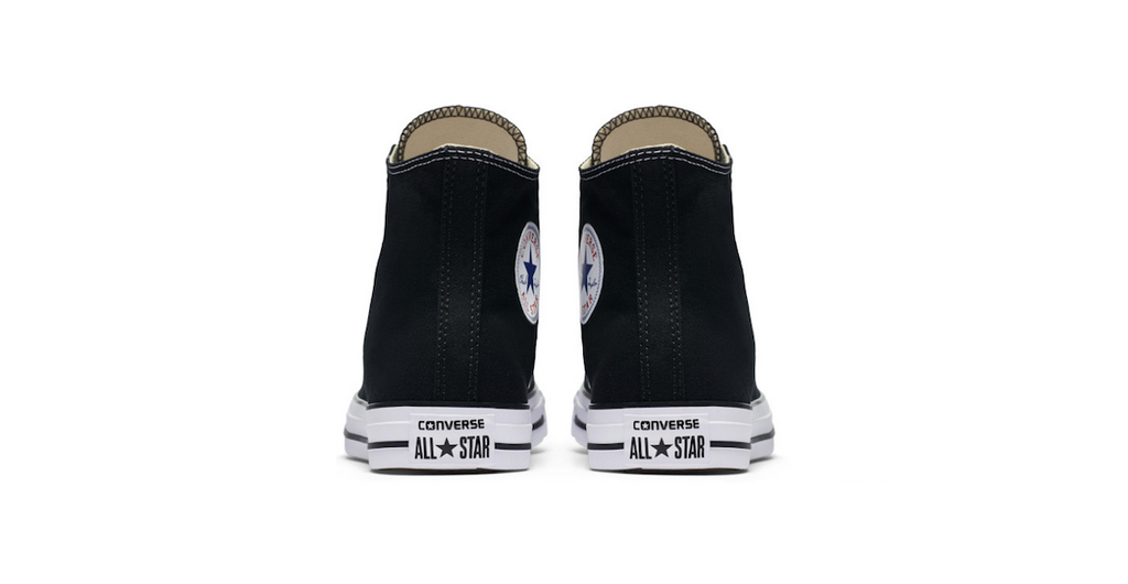 Converse Chuck Taylor All Star High Black | Foot Placard