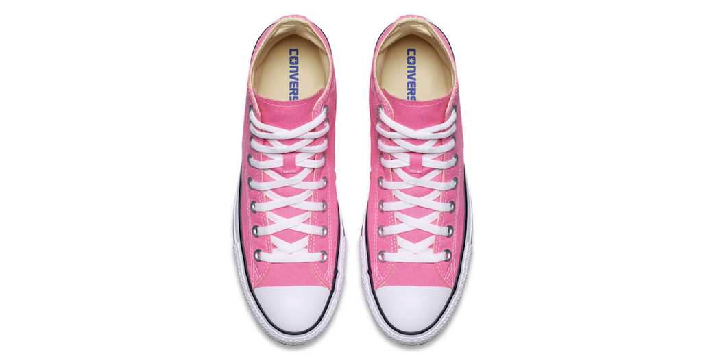 Converse Chuck Taylor All Star High Pink | Foot Placard