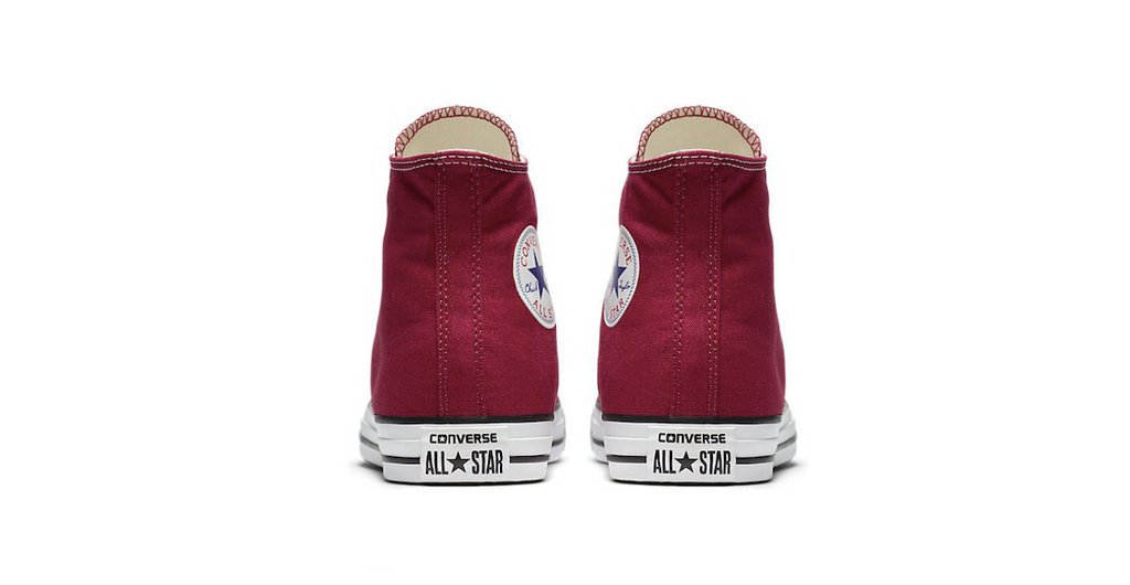 Converse Chuck Taylor All Star High Maroon | Foot Placard