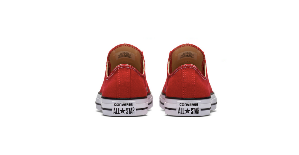 Converse Chuck Taylor All Star Low Red | Foot Placard