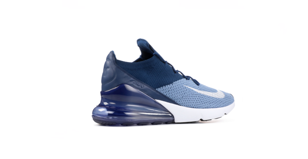Nike Air Max 270 Flyknit 'Work Blue - White' | Foot Placard