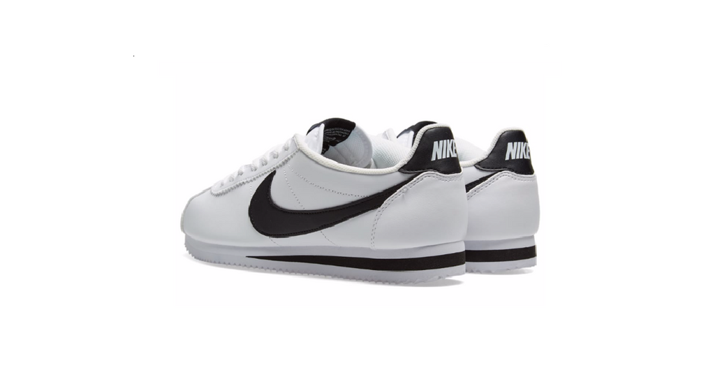 Nike Wmns Classic Cortez Leather 'White - Black' | Foot Placard