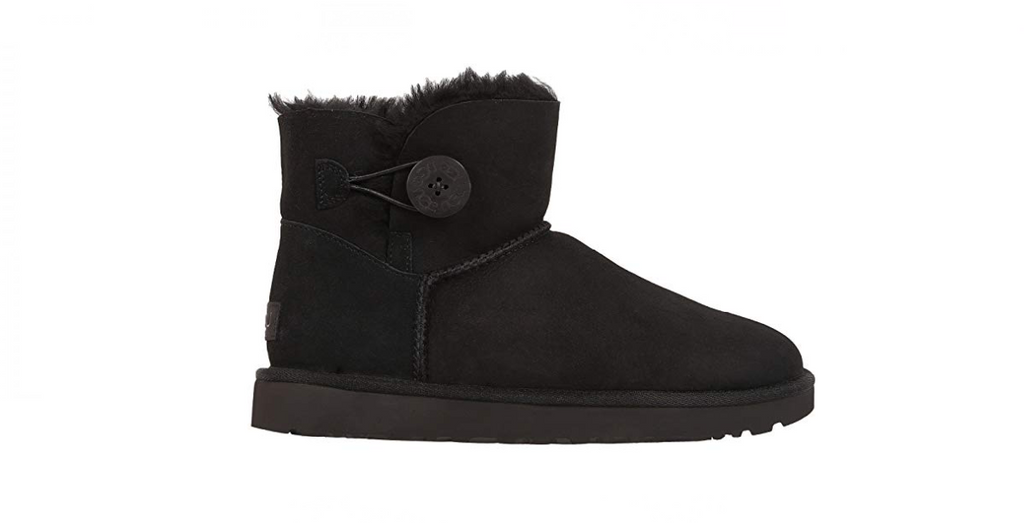 UGG Mini Bailey Button ll Boots 'Black' Foot Placard