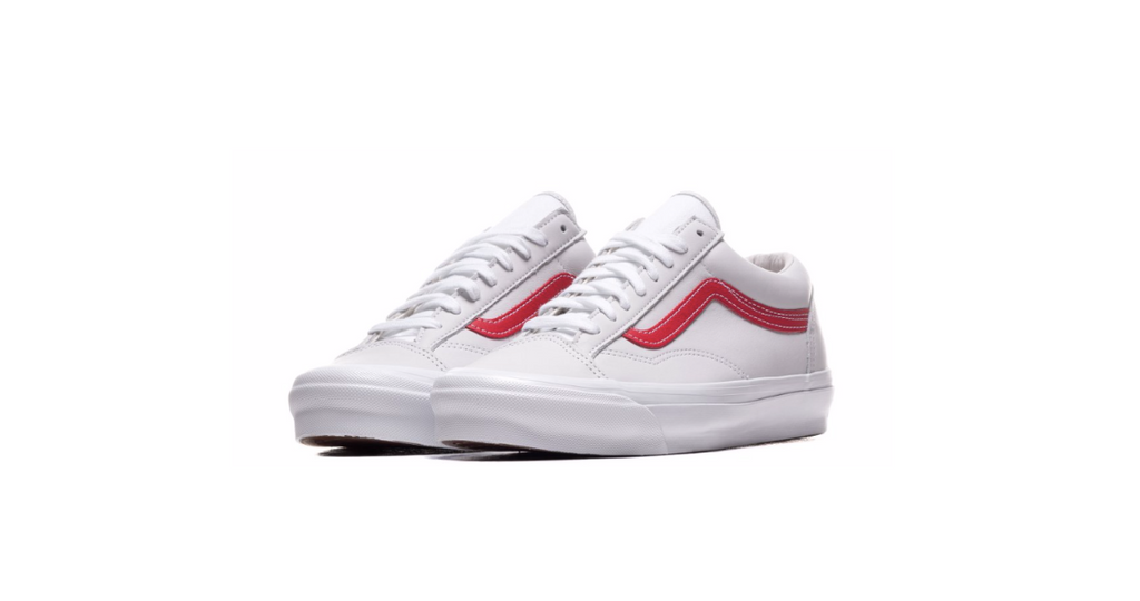Vans UA OG Style 36 LX 'Red - True White' | Foot Placard