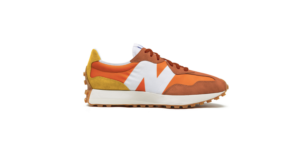 New Balance 327 | Varsity Orange - Aspen Gold