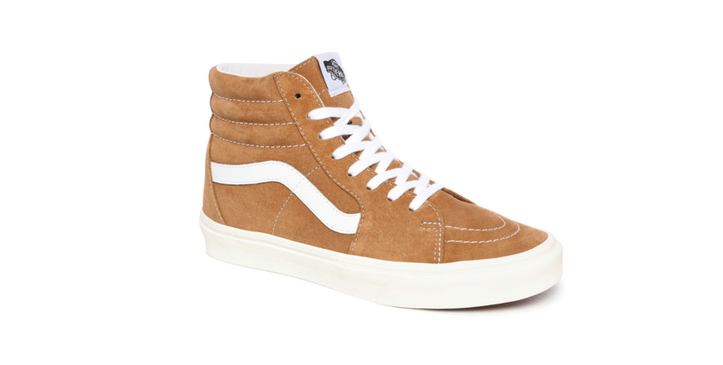 Vans Pig Suede Sk8-Hi 'Brown Sugar - Snow White' | Foot Placard