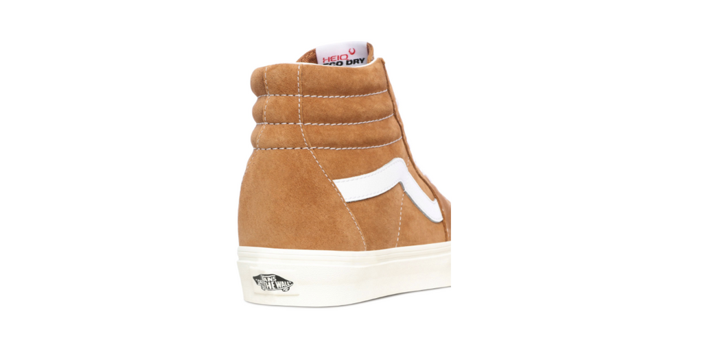 Vans Pig Suede Sk8-Hi | Brown Sugar - Snow White