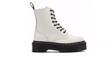 Dr. Martens Jadon Platform Boots 'White Smooth' | Foot Placard
