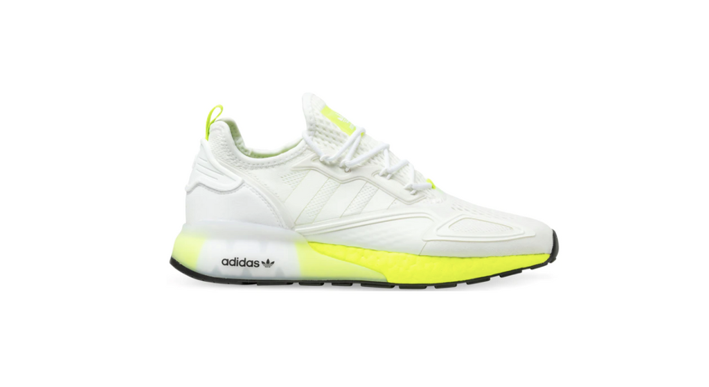 adidas Originals ZX 2K Boost 'Cloud White - Yellow' | Foot Placard