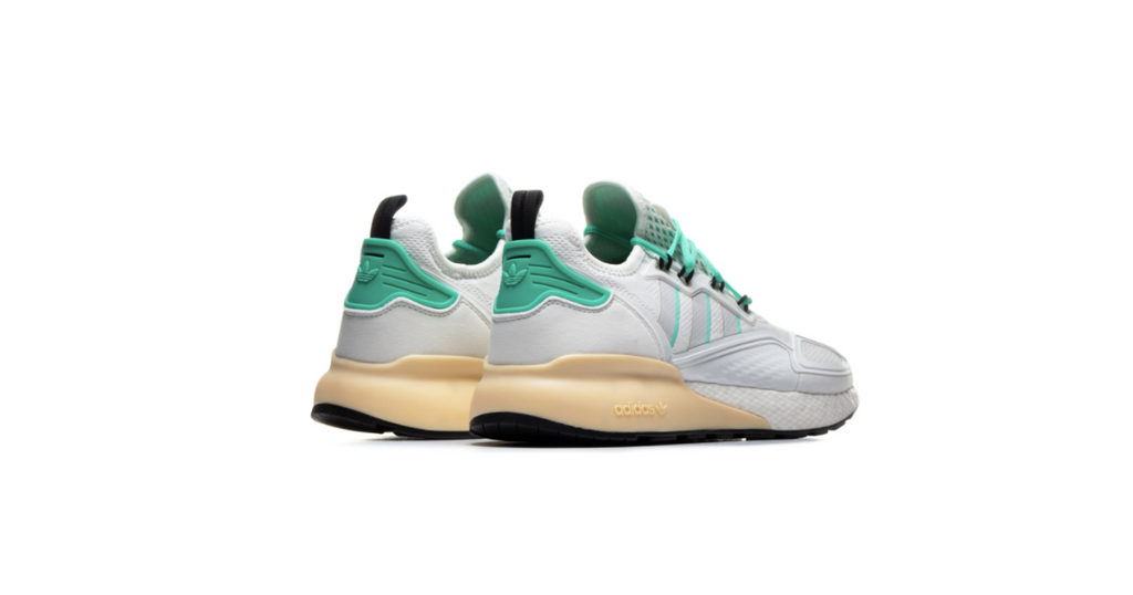 adidas Originals ZX 2K Boost 'Crystal White -  Green' | Foot Placard