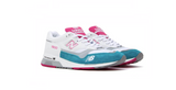 New Balance Made In UK | White - Aqua | Foot Placard