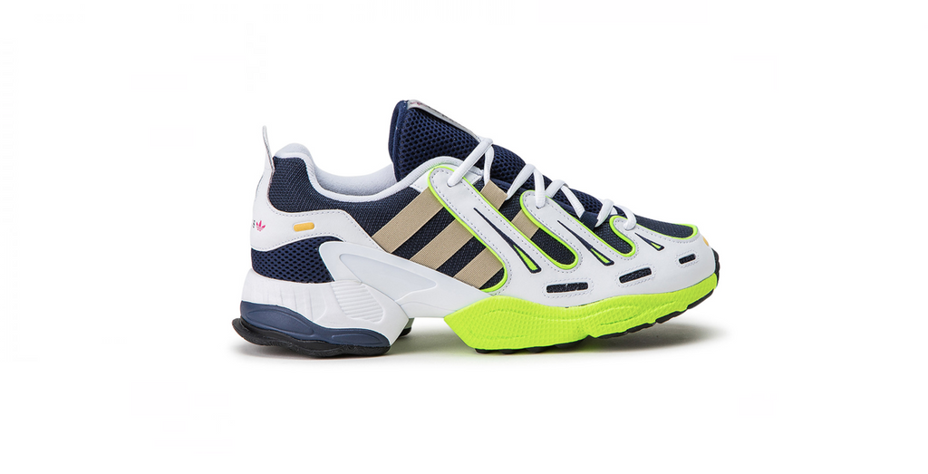 adidas EQT Gazelle 'Collegiate Navy - Solar Yellow'  | Foot Placard