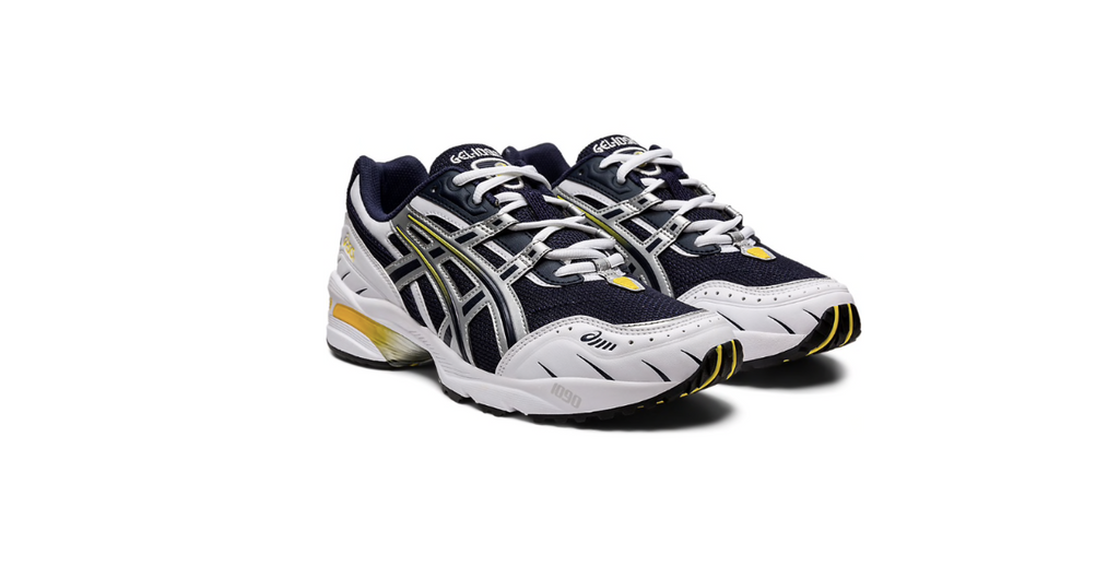 ASICS Gel-1090 'Midnight - Pure Silver' | Foot Placard
