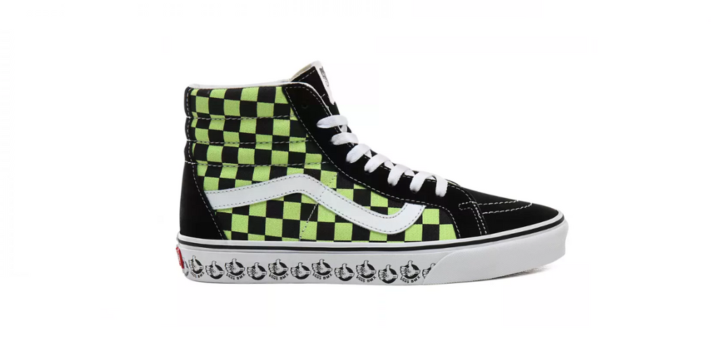 Vans BMX Sk8 Hi 'Black - Sharp Green' | Foot Placard