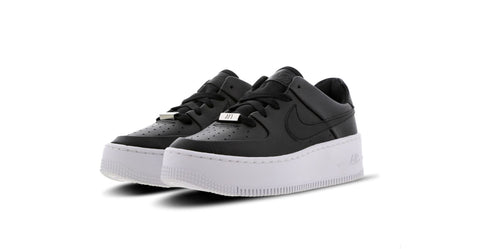 Nike Wmns Air Force 1 Sage Low 'Black - White' | Foot Placard