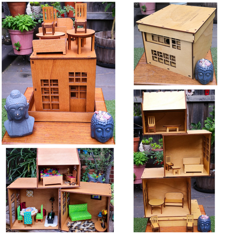 packable stackable - Dolls house