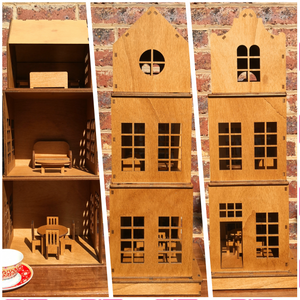 Boutique handmade Wooden Doll House