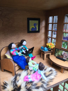 Hand made dolls  Doll house living toys