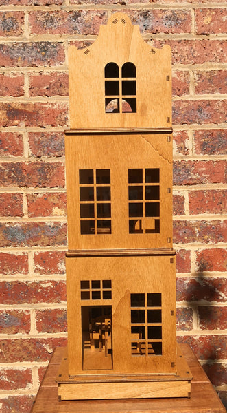 packable stackable - wooden dolls house