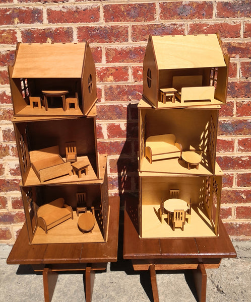 Huisje Kind - Wooden Dolls house  - Free Shipping in Australia  --   Packable Stackable