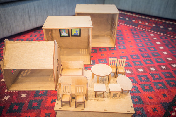 Huisje Kind - Wooden Play House