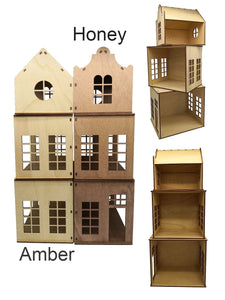 Huisje Kind - Wooden Play House - Stained DIY KIT - Excluding Furniture