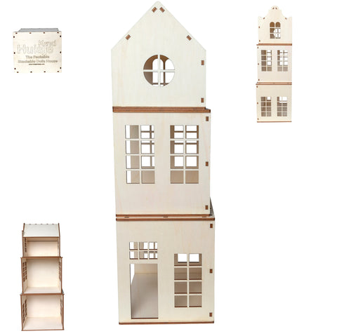 Huisje Kind -  Wooden Play House Raw DIY Kit
