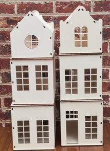 Huisje Kind - Wooden Dolls House DIY Kit - Free Shipping in Australia  --   Packable Stackable