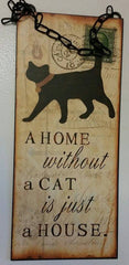 Giftcraft Cat Wall Sign
